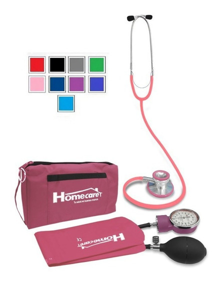 Kit Baumanometro Estetoscopio Doble Varios Colores Homecare