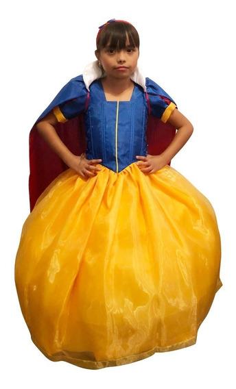 Vestido Blanca Nieves Princesa Talla 10