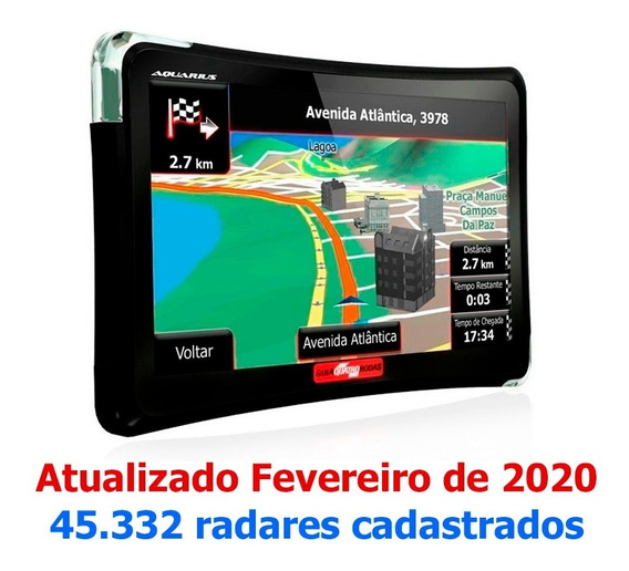 Gps Aquarius Guia Quatro Rodas 4.3 Tv Digital Sd Automotivo