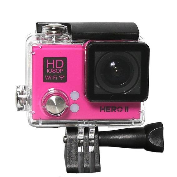 Camera Goalpro Hero 2 Wifi Full Hd Rosa
