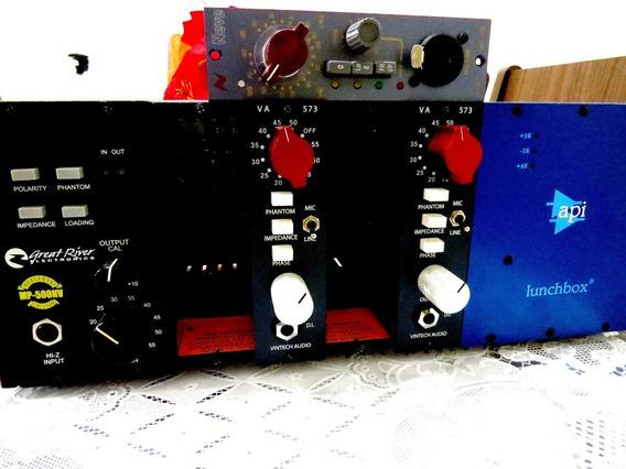 Api Lunchbox 6b Com 4 Pre Amps. Neve Vintech Greatriver