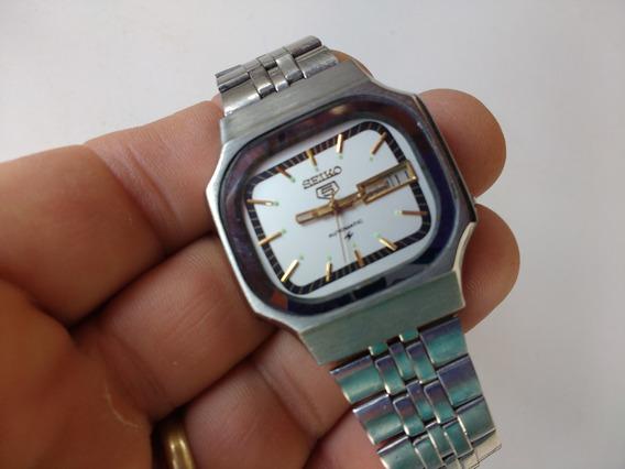 Relógio Seiko 5 Automático Raro Perfeito Branco Revisado A