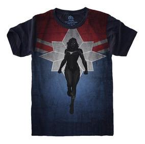 Camiseta Super Herói Capitã Marvel Vingadores