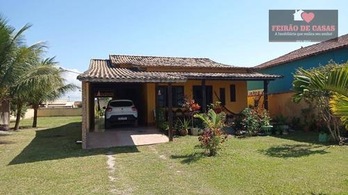 Casa Com 4 Dormitórios À Venda, 250 M² Por R$ 350.000 - Unamar - Cabo Frio/rj - Ca0270