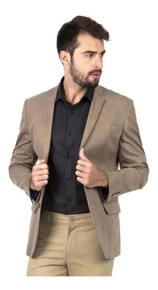 Blazer Masculino Slim Fit Luxo Jordhan Marrom
