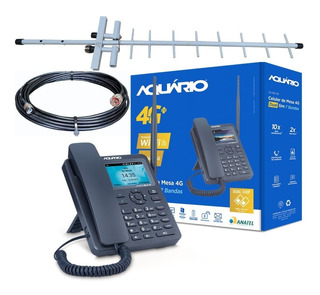 Kit Completo Telefone Rural Celular 4g Lte Wi-fi Ca-42s 4g