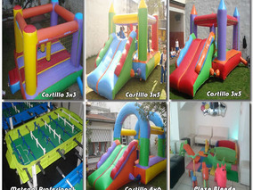 Alquiler De Castillos Inflables Plaza Blanda Metegol