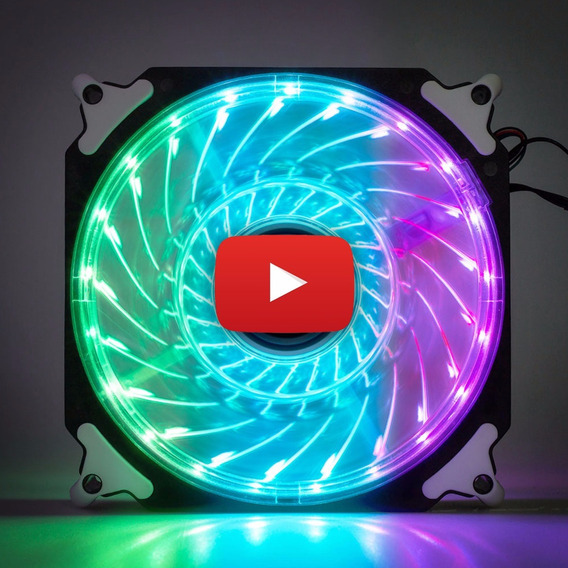 Cooler Fan Pc Gamer 120mm Led Rgb Ventoinha Dx-12r