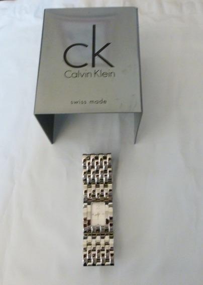 Relógio Calvin Klein Original Aço Inox Pulseira Bracelete Novo Na Caixa Em 12 X S/ Juros E Frete Grátis