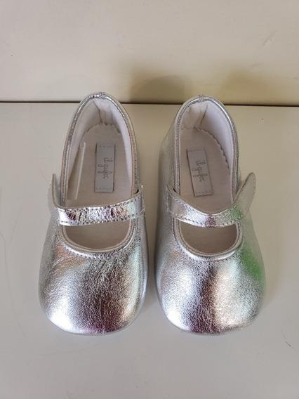 Zapato Chatitas Bebe Zapatillas Bautismo 12 Cm Abrojo Bal