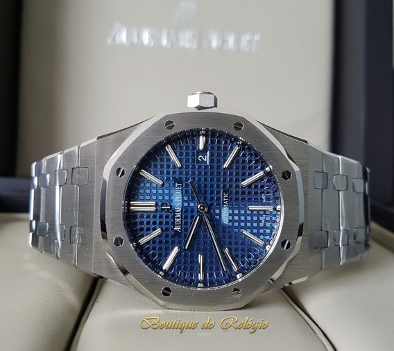 Relogio Eta - Modelo Royal Oak Blue Dial - 41mm