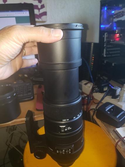 Sigma 150-500mm F5-6.3 Apo Dg Os Hsm-nova-troco Por 600mm