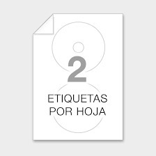 Etiquetas Autoadhesivas Precortadas Cd/dvd  (50 Unid)