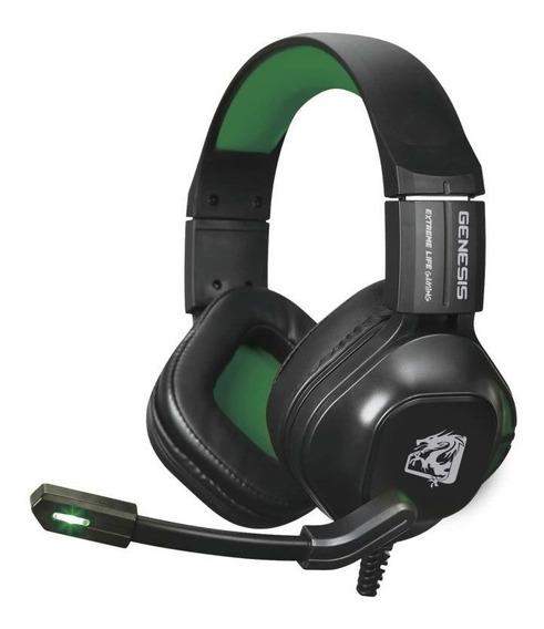 Headset Gamer Genesis 60mw Led Verde Cabo 2m ELG - Hgge