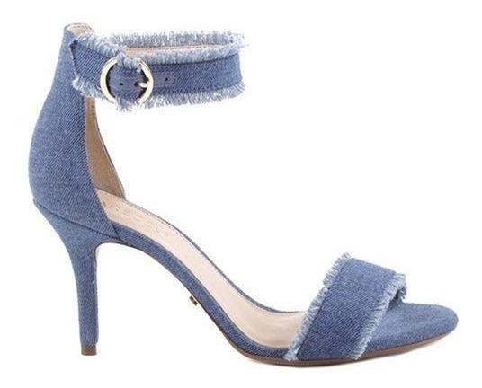 Sandalia Feminina Arezzo Jeans Salto Alto Blogueira Promoção