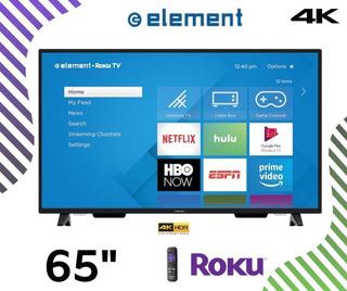 Led 65 Element Smart Roku Tv Ultra Hd 4k