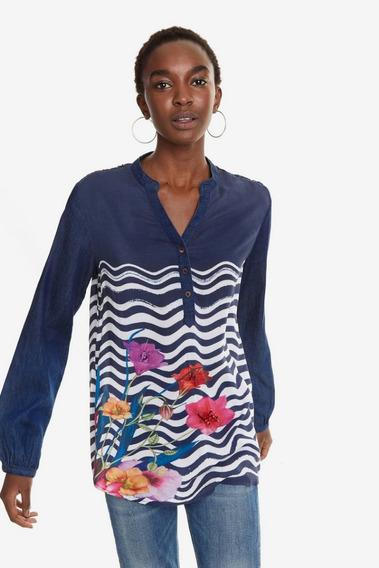 Blusa Dama Textil Azul Marino Desigual