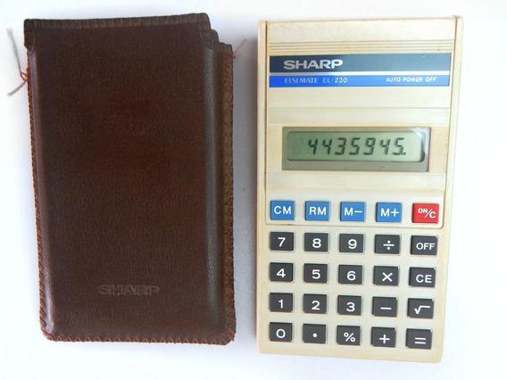 Calculadora Sharp Elsi Mate El- 230 Usada Anos 80 Com Estojo