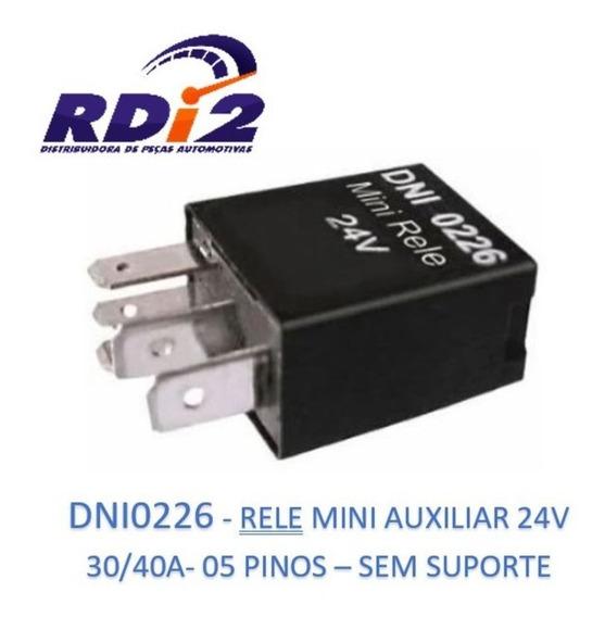Rele Auxiliar Mini 24v 30/40a - 05 Pinos Sem Suporte - 0226