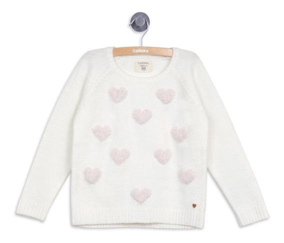 Sweater Vestir Off White Niña Colloky