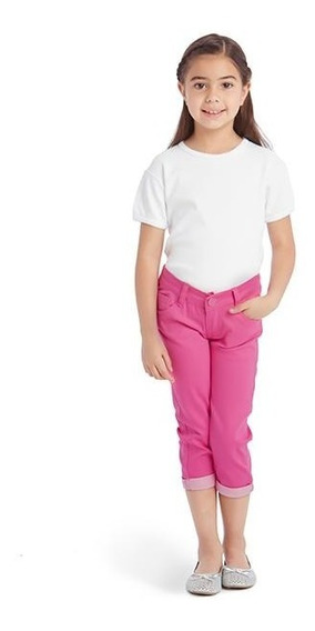 Pantalón Tipo Capri Rosa Para Niña Up & Down Girls Pr-4722272