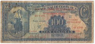 Billete Antiguo De Costa Rica Sabana 29 Marzo 1939 Jmg