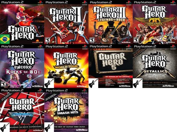 Promoção 3 Coleção 10 Jogos Guitar Hero Ps2 Patch