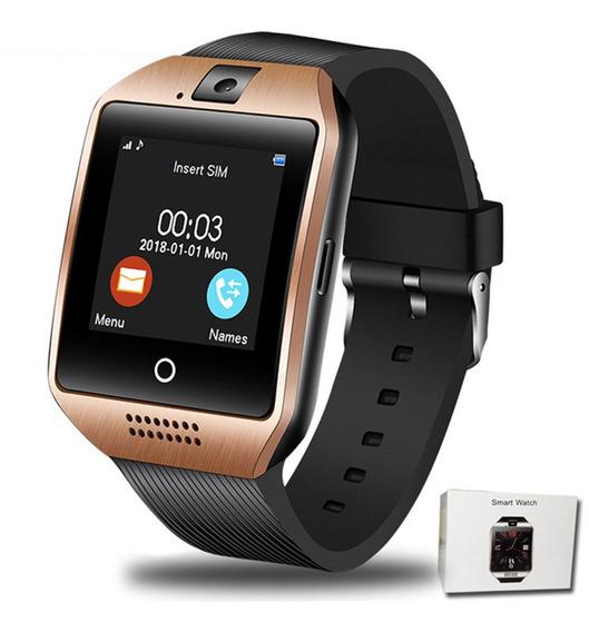 Bluetooth Reloj Inteligente Q18 Con Soporte De Cámara Sim Tf