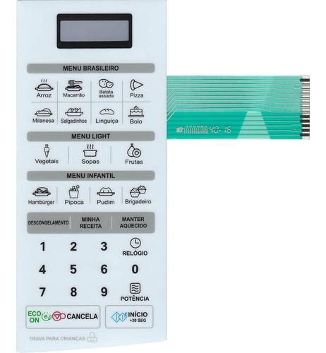 Imagem 1 de 2 de Teclado De Membrana Microondas LG Ms2347g Ms2347ga - Branco