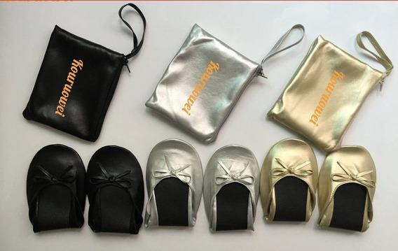 Zapatos Plegables Con Bolsa Portatil Para Bodas 51 A 100