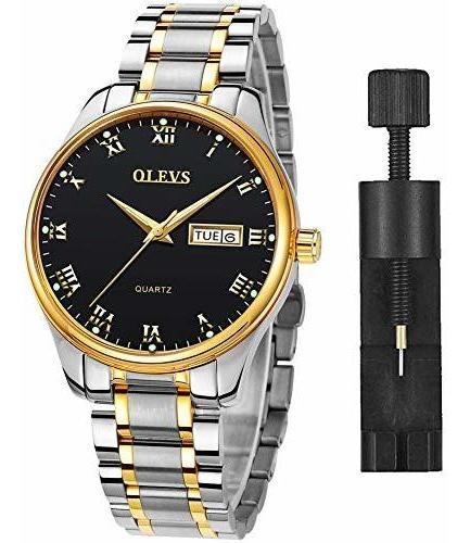 Relojes De Hombre Clásicos Con Fecha, Acero Inoxidable Hombr