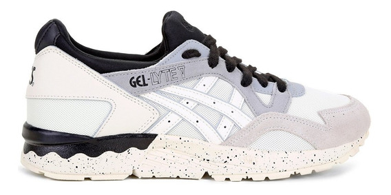 Tênis Asics Tiger Gel-lyte V Off White E Bege Barbada N° 36