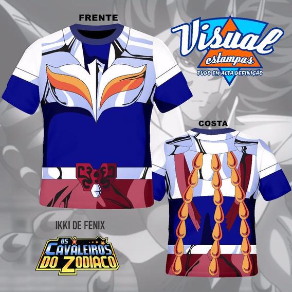 Camiseta Uniforme Cavaleiros Do Zodiaco Ikki De Fênix