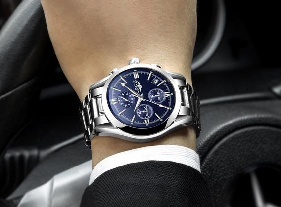 Relógio - Lige - Original - Cronografo - 41mm - Em Estoque