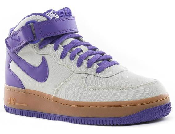 Zapatillas Bota Nike Air Force 1 Mid Txt Crudo Lila