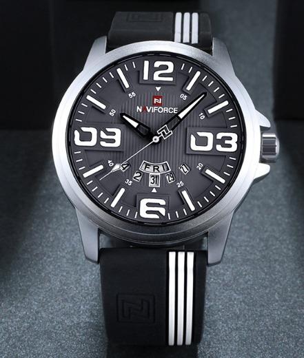 Relógio Masculino Militar Naviforce Esportivo A Prova D