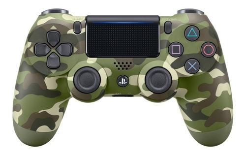 ..:: Control Dualshock 4 Camuflaje Militar Verde ::. Para Ps4 En Gamecen