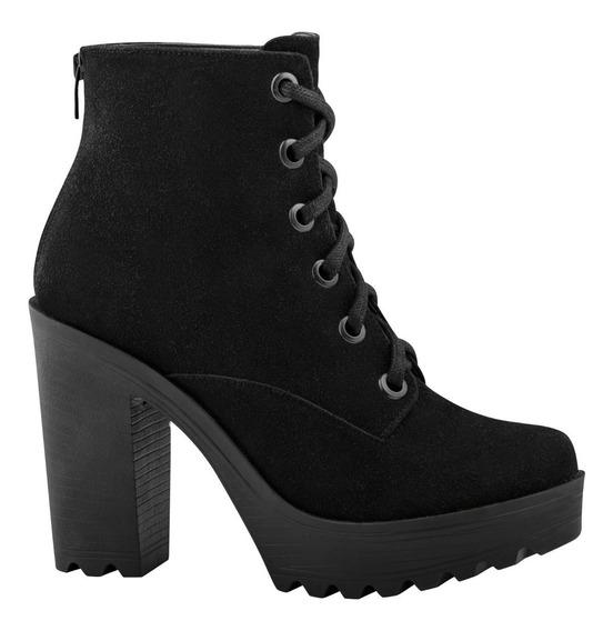 Doreli Zapatos Botines Tacon Agujetas Casual Vestir 4870501