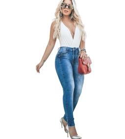 0f582c558 Calças Outras Marcas Feminino Azul aço no Mercado Livre Brasil