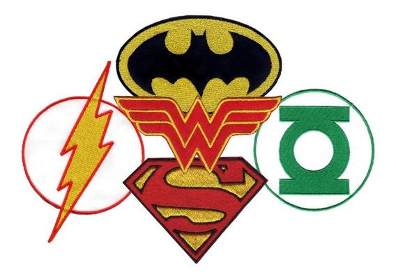 Parche Bordado Batman Superman Flash Mujer Maravilla X 1