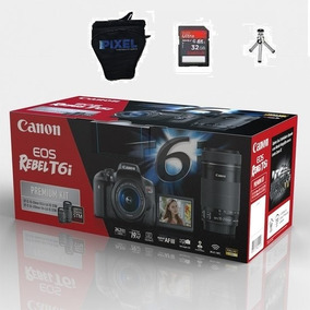 Canon T6i Premium 18-55mm 55-250mm 32gb Bolsa Sem Juros