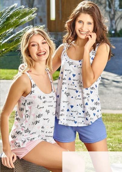 Pijama Verano Mujer Susurro 2527 Talles Grandes Hasta El 8