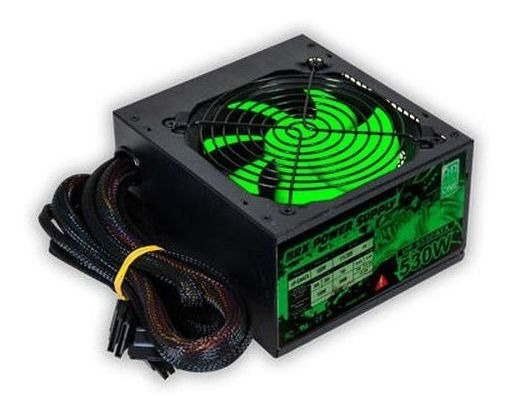 Fonte Atx 530w Real 12 Tob Gamer Dragon Green T5
