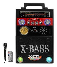 Caixa Karaoke Megastar Rx-1802bt Bluetooth/usb/sd/microfone