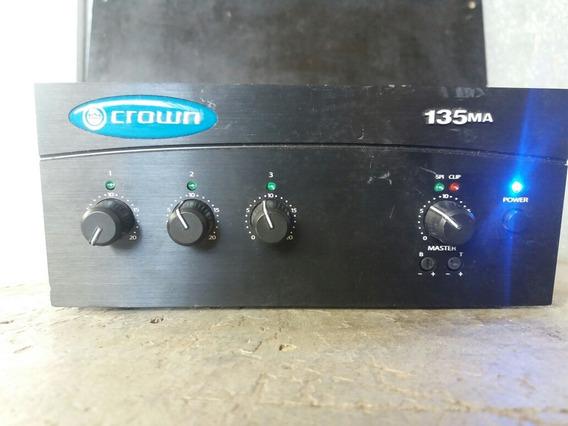 Crown 135 Ma Amplificador Som Ambiente 35w 3 Saidas