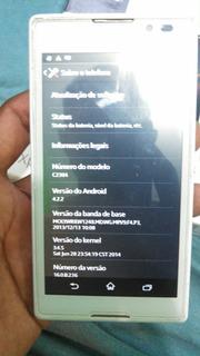 Sony Xperia C C2304 2gb Dua Chip Branco Usado Desbloqueado
