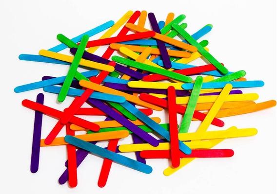 Palitos De Helado Colores Surtidos X 50 Unidades