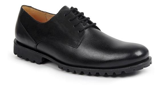 Sapato Casual Masculino Em Couro Sola Alta De Borracha Macio