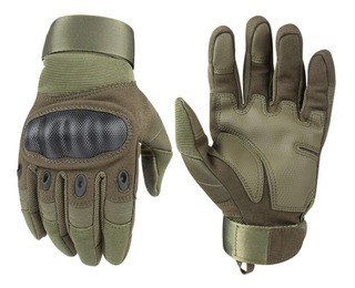 Guantes Touch Tacticos Militares Ciclismo Deporte Moto Verde