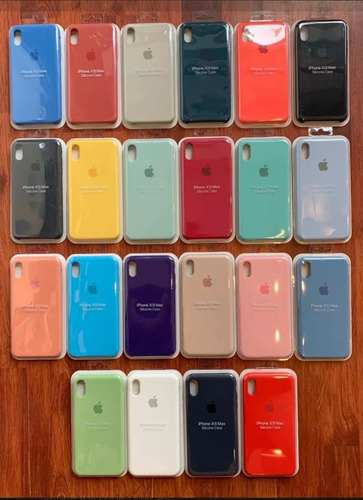 Case Silicona Apple iPhone X/ Xs Max / Xr / Xs + Mica Vidrio